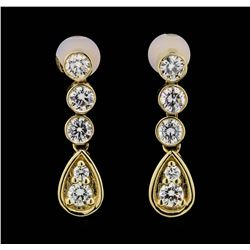 14KT Yellow Gold 1.32ctw Diamond Earrings
