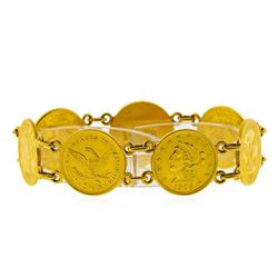 $2 1/2 Liberty Head Quarter Eagle Gold Coin Bracelet