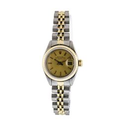Rolex Ladies Two Tone DateJust Wristwatch