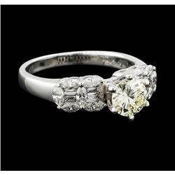 18KT White Gold 1.51ctw Diamond Ring