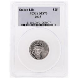 2003 $25 American Platinum Eagle Coin PCGS MS70