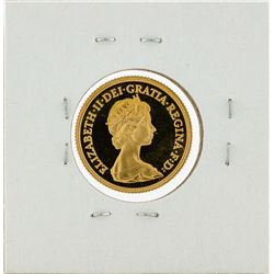 1984 Great Britain Sovereign Proof Gold Coin