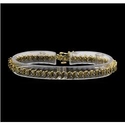 10KT Yellow Gold 2.00ctw Diamond Tennis Bracelet