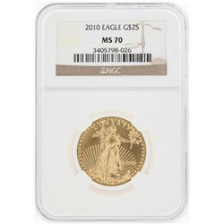 2010 $25 American Gold Eagle Coin NGC MS70