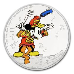 2016 $2 Disney Mickey The Band Concert .999 Fine Silver Proof Coin