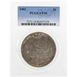 1901 $1 Morgan Silver Dollar Coin PCGS VF35