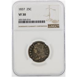 1837 Capped Bust Quarter Coin NGC VF30
