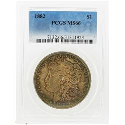 1882 $1 Morgan Silver Dollar PCGS Graded MS66