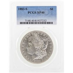 1883-S $1 Morgan Silver Dollar Coin PCGS XF40