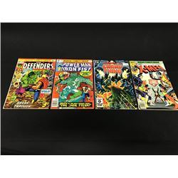 LOT OF 4 MARVEL AND DC BRONZE AGE KEYS, 70'S AND 80'S.  INCLUDES THE DEFENDERS #10 (HULK VS. THOR