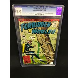 CGC GRADED (8.0) FORBIDDEN WORLDS #124, STORIES OF STRANGE ADVENTURE, 12 CENT COVER