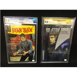 2 X CGC GRADED COMICS INC. STAR TREK (CGC 9.8) COUNTDOWN TO DARKNESS #3 AND