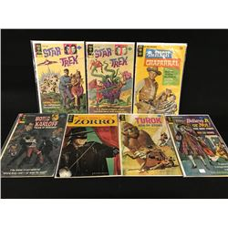 LOT OF 7 GOLD AND SILVER AGE COMICS PUBLISHED BY GOLD KEY COMICS INC.: 12 CENT 'WALT DISNEY  '