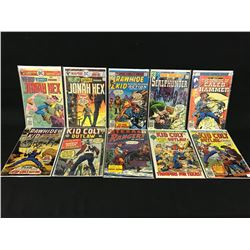 LOT OF 10 OLDER WESTERN COMIC BOOKS BY ASSORTED PUBLISHERS, 3 X 12 CENT COVERS,