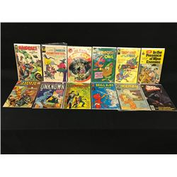 LOT OF 12 ASSORTED GOLD / SILVER AGE COMICS INCLUDING: JUDO MASTER, ADVENTURES INTO THE UNKNOWN,