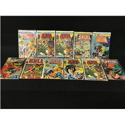 LOT OF 11 ASSORTED BRONZE AGE MONSTER COMICS INCLUDING: WHERE MONSTERS DWELL, KULL THE CONQUEROR,