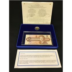 1996 CANADA $2 PROOF COIN AND BANK NOTE SET IN CASE
