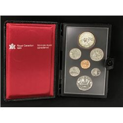 1980 CANADIAN PRESTIGE SET, PROOF-LIKE WITH SILVER POLAR BEAR DOLLAR, .500 SILVER, IN CASE