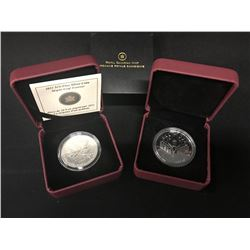 2011 $10 FINE SILVER MAPLE LEAF FOREVER COIN IN CASE, AND 2000 CANADIAN SILVER DOLLAR ENCAPSULATED