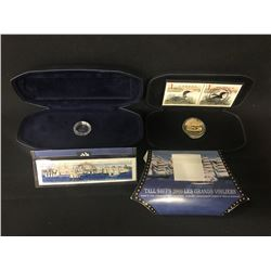 LIMITED EDITION SET, 15000 STERLING SILVER TALL SSHIP DIME PLUS TALL SHIP STAMP, .925 SILVER, AND