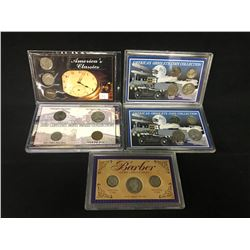 5 SETS OF AMERICAN COLLECTIBLE COINS INC. 2X 'AMERICA'S OBSOLETE COIN COLLECTION, 20TH CENTURY MINT