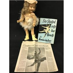 BARBARA ANNE SCOTT DOLL, 1948 FIGURE SKATING OLYMPIC CHAMPION, CANADIAN.  ALL ORIGINAL