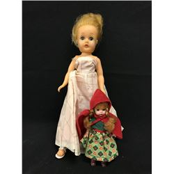 LOT OF TWO VINTAGE DOLLS, MISS CANADA DOLL FROM 1958, ALL ORIGINAL AND A MADAME ALEXANDER MINI DOLL