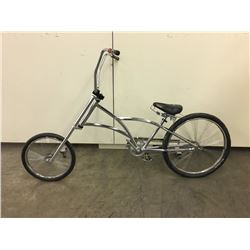 CHROME CUSTOM CRUISER BIKE WITH 72 SPOKE FAN WHEELS