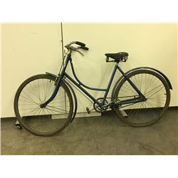 "BLUE LADIES COASTER BIKE  28"" TIRES"