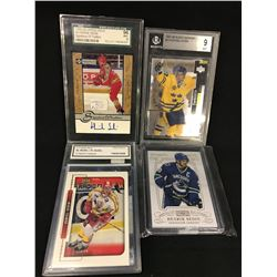 LOT OF 4 HENRIK SEDIN COLLECTOR HOCKY CARDS