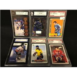 LOT OF 6 PSA GRADED COLLECTOR HOCKEY CARDS