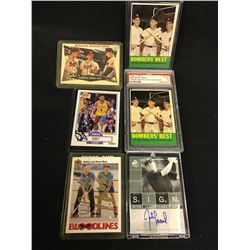 LOT OF ASSORTED GRADED / AUTOGRAPHED COLLECTOR SPORTS CARDS