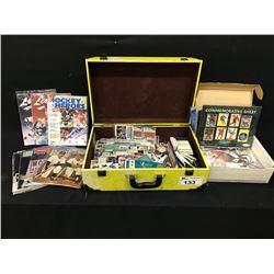 LARGE LOT OF ASSORTED SPORTS CARDS AND OTHER COLLECTABLES