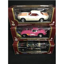 RACING COLLECTABLES LOT INC. 3 X 1:18 SCALE VINTAGE CARS