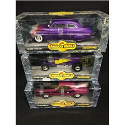 RACING COLLECTABLES LOT INC. 3 X 1:18 SCALE VINTAGE MUSCLE CARS