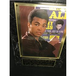 "MUHAMMAD ALI 8"" X 10"" AUTOGRAPHED PHOTO ON A HARD PLAQUE.  COMES WITH A 'HOUSE OF PLAQUES"