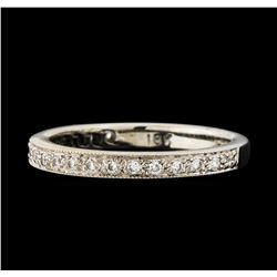 0.17 ctw Diamond Ring - 18KT White Gold