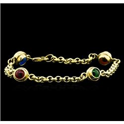 14KT Yellow Gold Evil Eye Bracelet