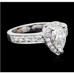 14KT White Gold GIA Certified 1.53 ctw Diamond Ring