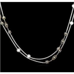 James Kurk 0.32 ctw Diamond Necklace - 14KT White Gold