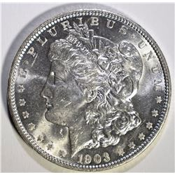 1903-O MORGAN SILVER DOLLAR, CH/GEM BU
