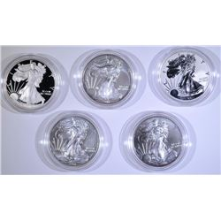 2011 25th ANNIVERSARY 5-PIECE AMERICAN SILVER EAGLE SET IN ORIGINAL PACKAGING