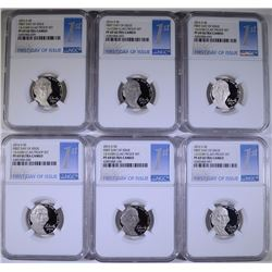 6 2016-S JEFFERSON NICKEL FIRST DAY OF ISSUE NGC PF 69 ULTRA CAMEO