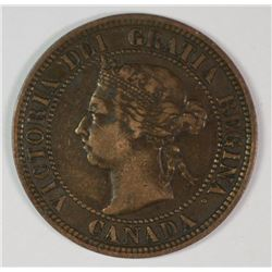 1891 CANADA LARGE CENT SMALL DATE, SMALL LEAVES VF-XF