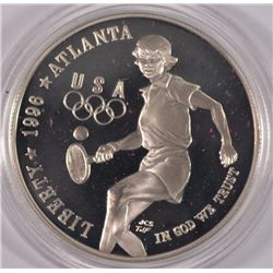1996 PROOF SILVER COMMEM - OLYMPIC GAMES -  TENNIS