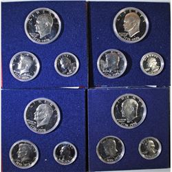( 4 ) 1976 3-PIECE BICENTENNIAL SILVER PROOF SETS IN ORIG PACKAGING