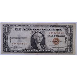 1935-A HAWAII $1.00 SILVER CERTIFICATE, NICE VF+