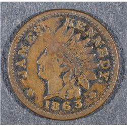 CIVIL WAR TOKEN: 1863 IONIA, MICH 495A - 1a  J. KENNEDY