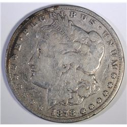 1878-CC MORGAN SILVER DOLLAR, GOOD/VG