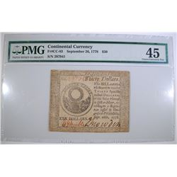 1778 $30 CONTINENTAL CURRENCY PMG 45